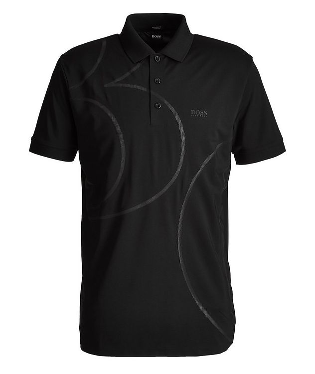 Paddy Swirl Mesh Stretch Polo picture 1