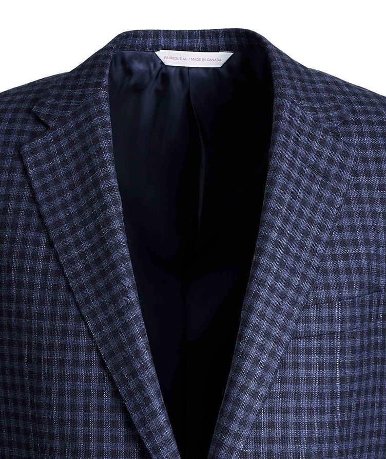 Cosmo Gingham Wool, Silk, and Linen Sports Jacket image 2