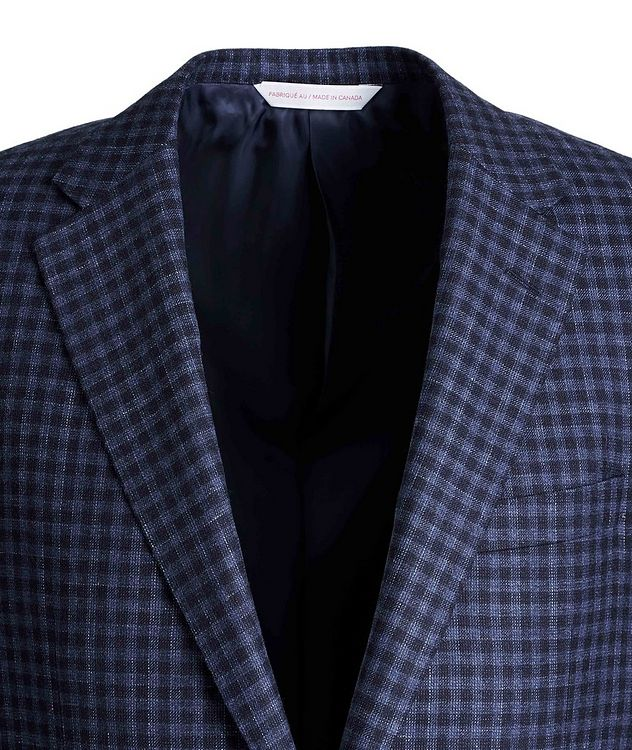 Cosmo Gingham Wool, Silk, and Linen Sports Jacket picture 3