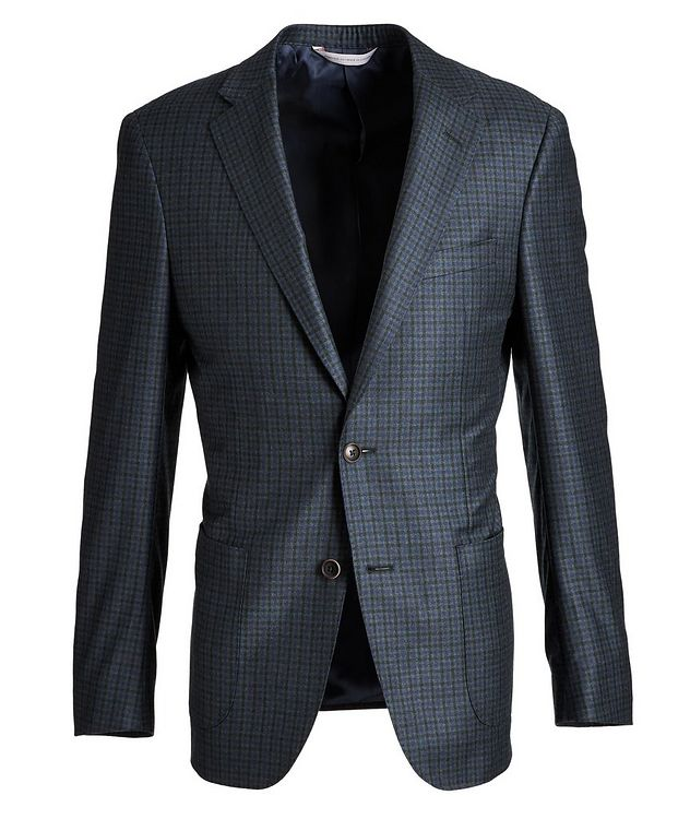 Cosmo Gingham Wool Sports Jacket picture 1