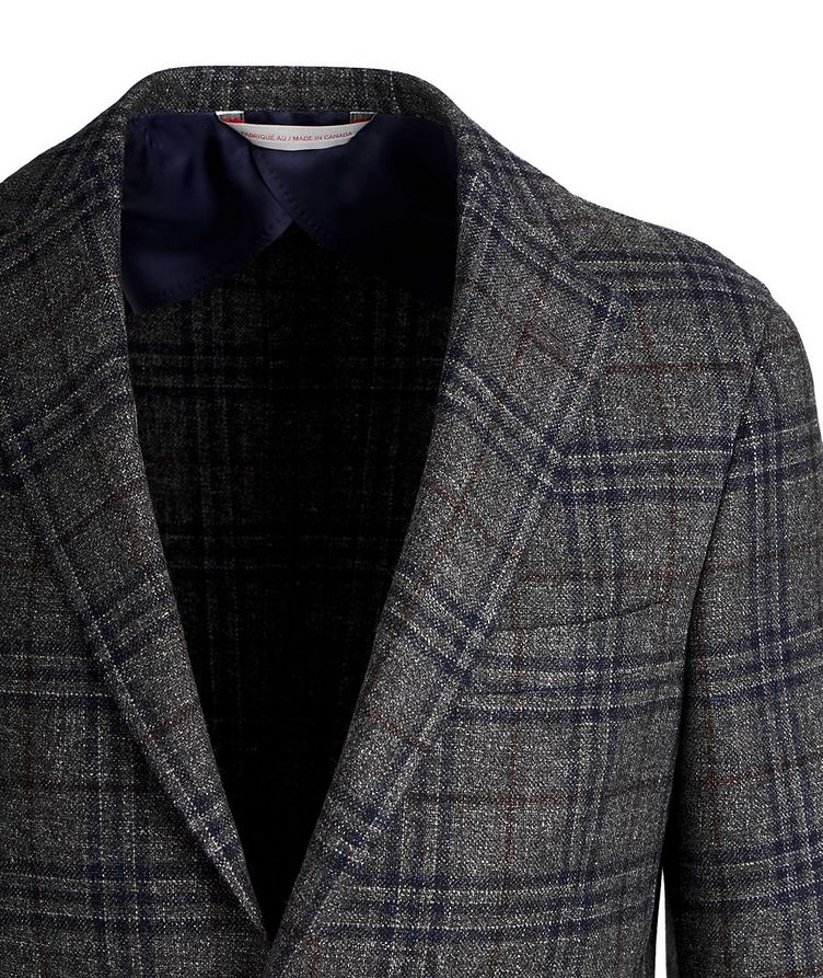 Checked Wool, Silk, and Linen Sports Jacket image 1