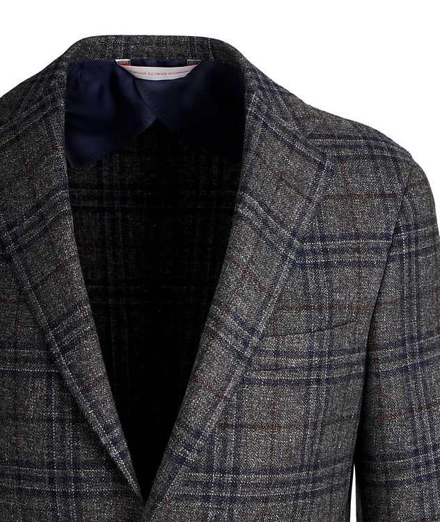 Checked Wool, Silk, and Linen Sports Jacket picture 2