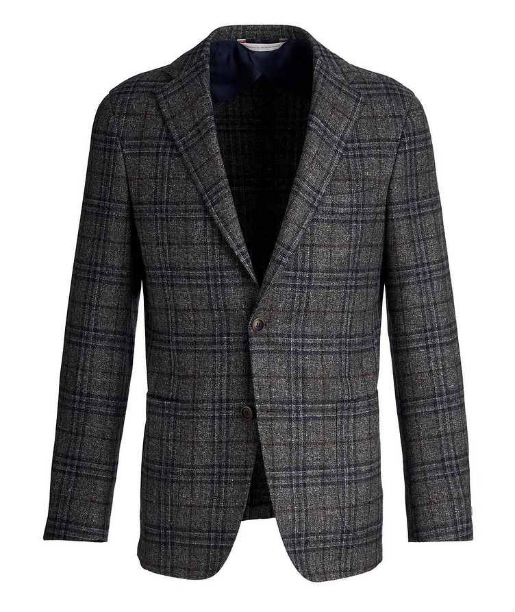 Checked Wool, Silk, and Linen Sports Jacket image 0