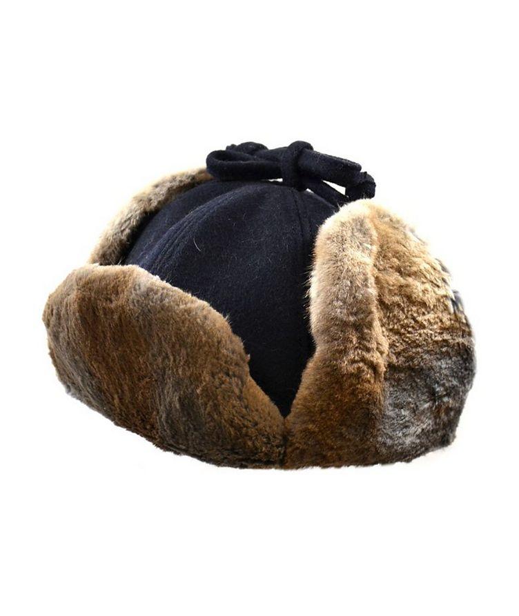 Wool & Fur Aviator Hat image 0