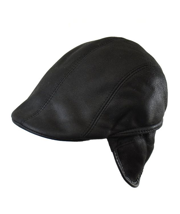 Shearling Driving Cap picture 2