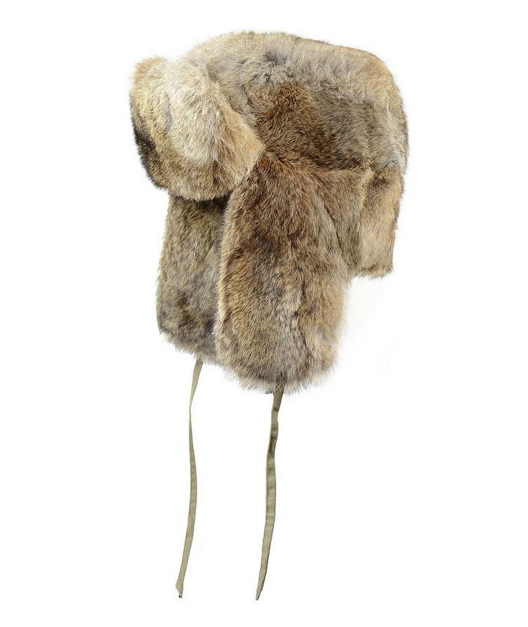 Rabbit Fur Aviator Hat image 0