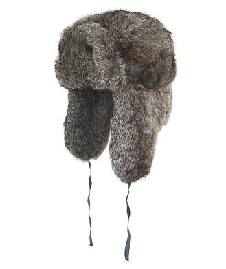 Crown Cap Rabbit Fur Aviator Hat