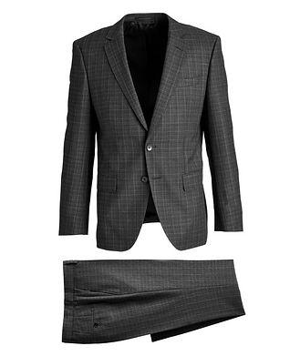 BOSS Huge6/Genius5 Slim-Fit Checked Wool Suit