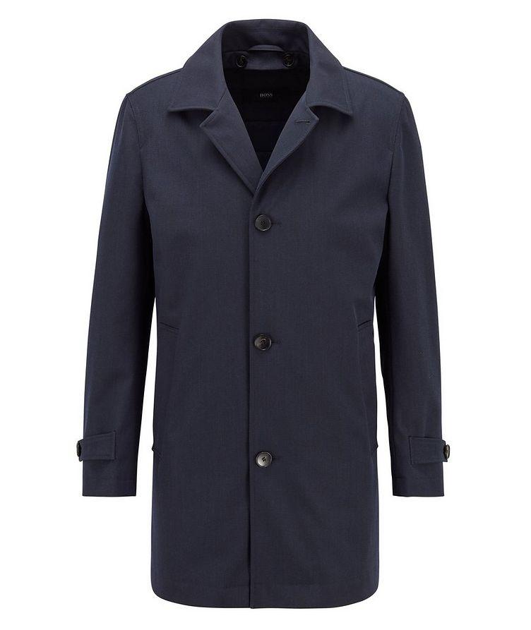Water-Repellent Wool-Cotton Coat image 0