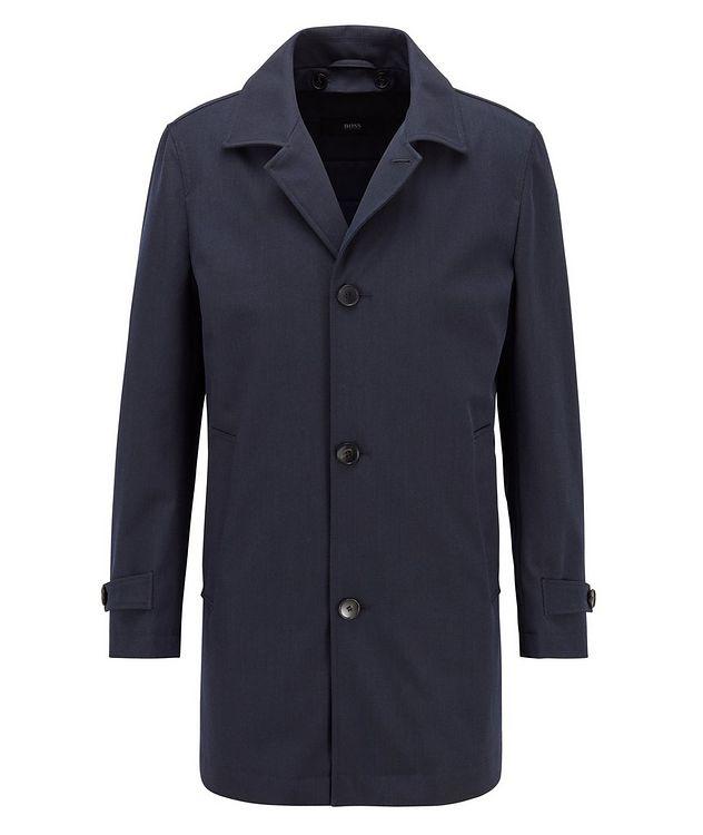 Water-Repellent Wool-Cotton Coat picture 1