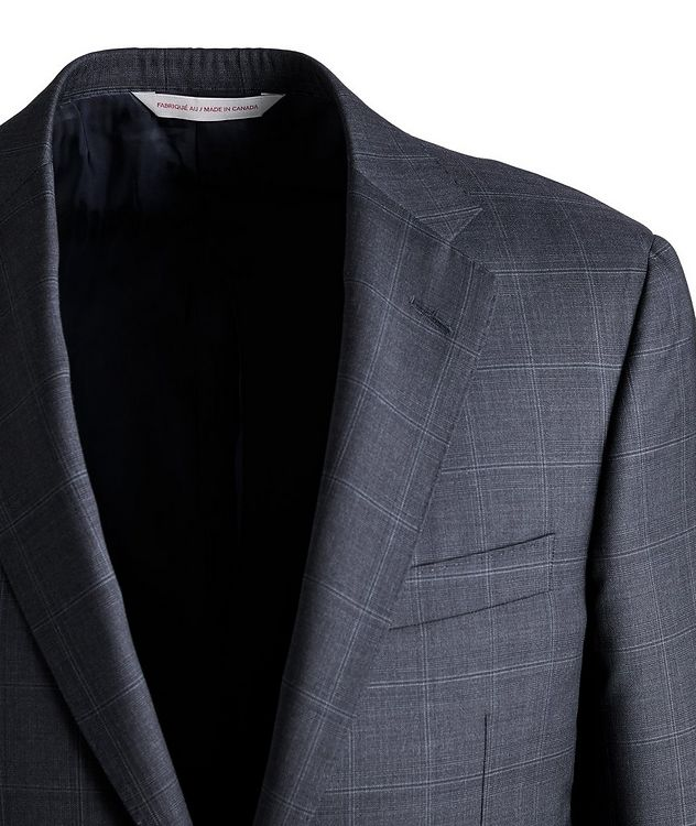 Cosmo Windowpane Check Wool Suit  picture 3