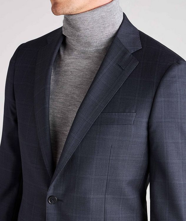 Cosmo Windowpane Check Wool Suit  picture 6