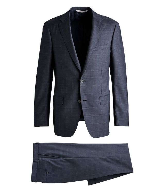 Cosmo Windowpane Check Wool Suit  picture 1