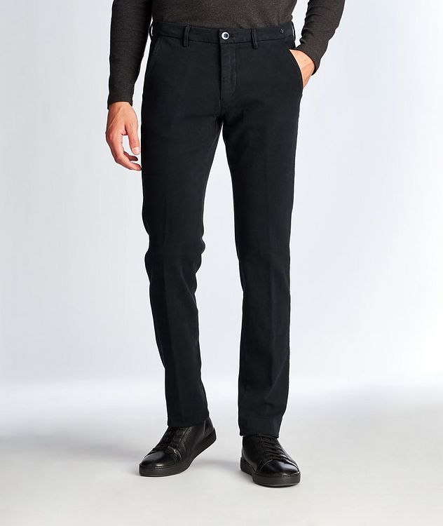 Slim Fit Stretch Cotton Chinos picture 1