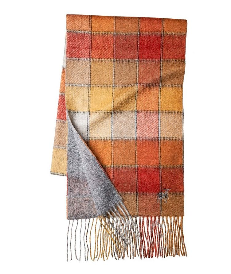 Checked Wool-Cashmere Scarf image 0