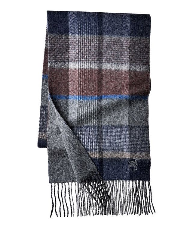 Plaid Wool-Cashmere Scarf picture 1