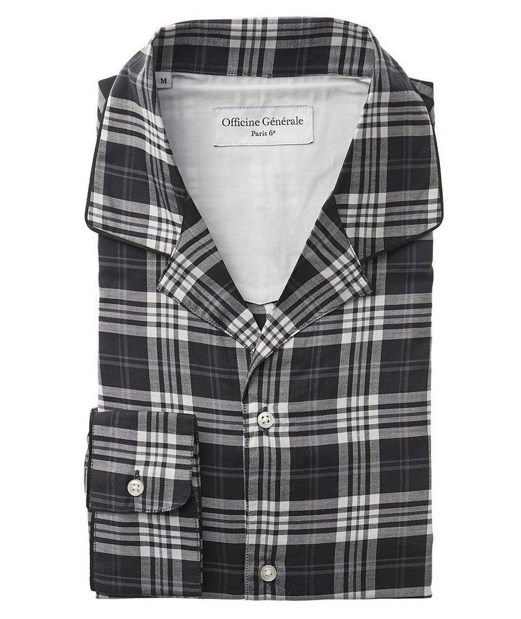Plaid Cotton-Blend Shirt image 0