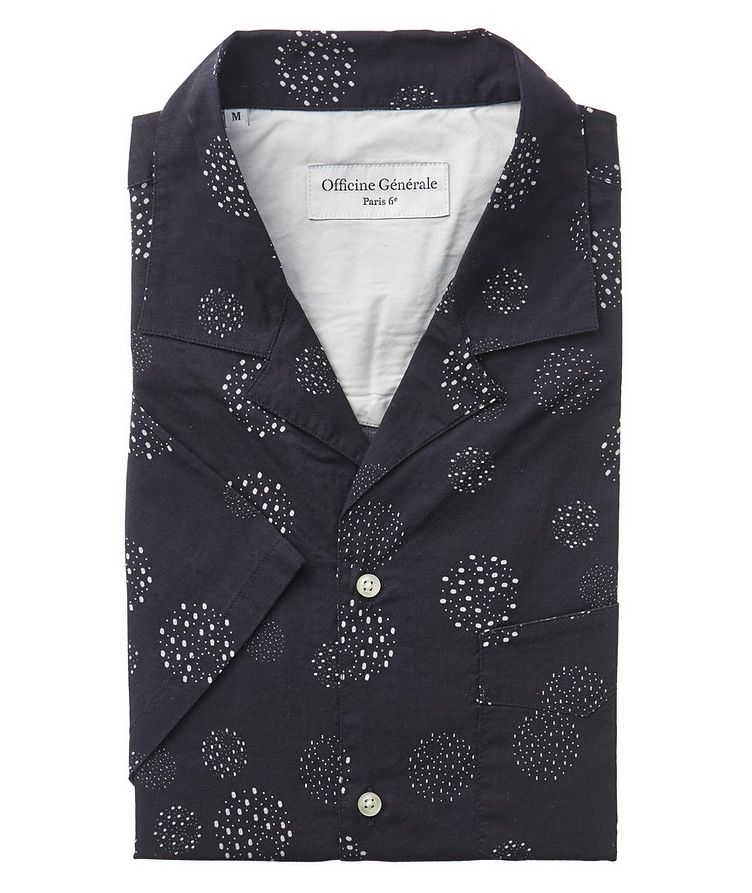 Dotted Short-Sleeve Cotton Shirt image 0