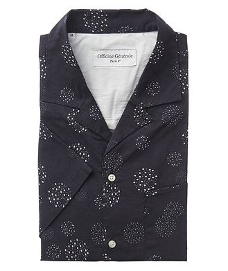 Officine Generale Dotted Short-Sleeve Cotton Shirt