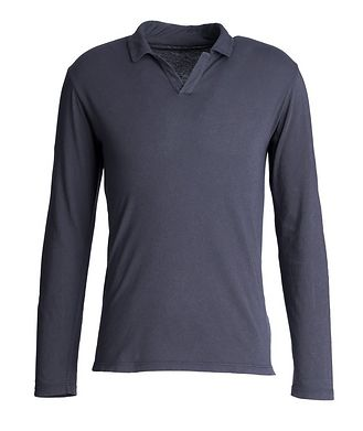 Officine Generale Simon Long-Sleeve Cotton Polo