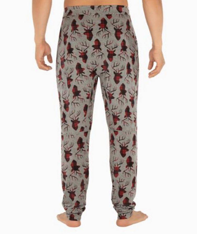 Snooze Plaid-Deer Stretch-Modal Pants image 1