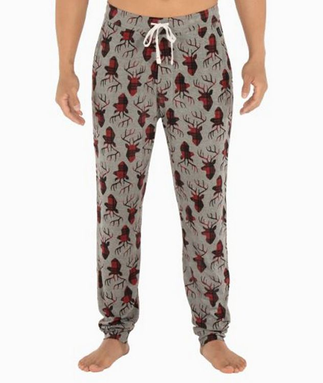 Snooze Plaid-Deer Stretch-Modal Pants picture 1