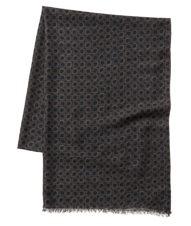 Printed Wool Scarf picture 1
