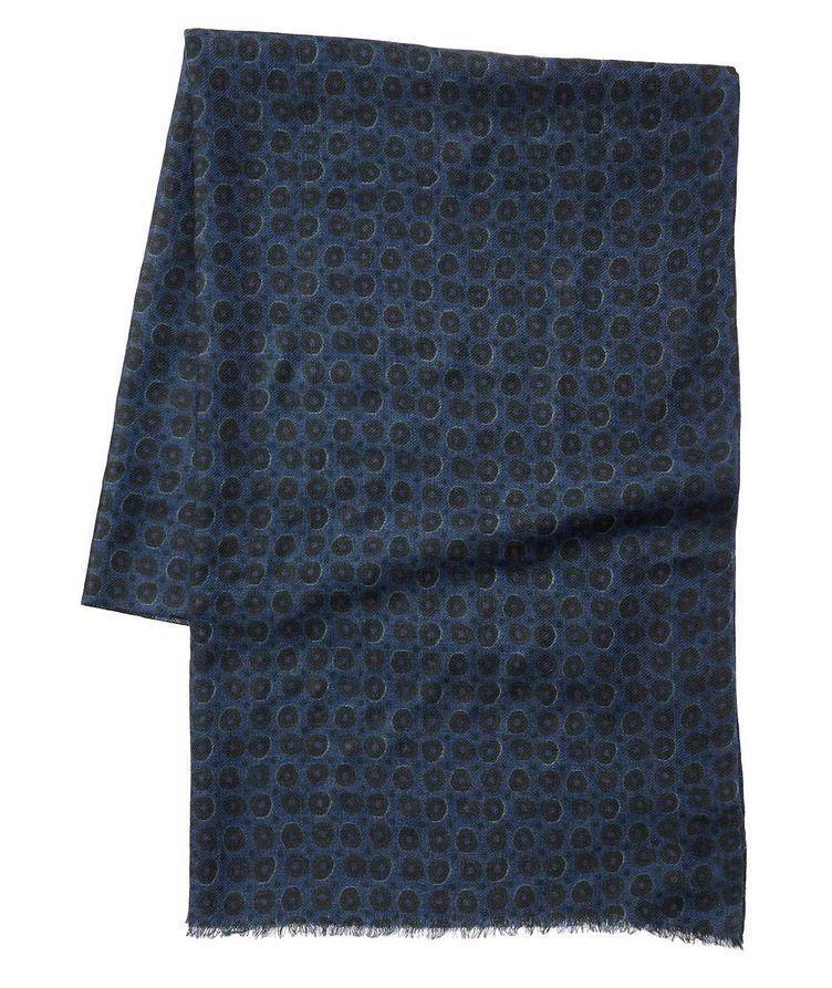 Écharpe imprimée en laine image 0