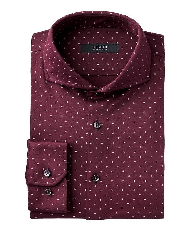 Contemporary-Fit Neat-Printed Cotton Shirt picture 1