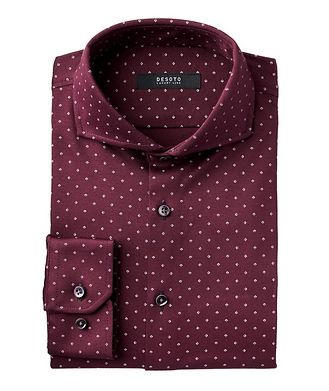 Desoto Contemporary-Fit Neat-Printed Cotton Shirt