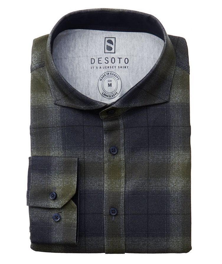 Plaid Cotton-Jersey Shirt image 0