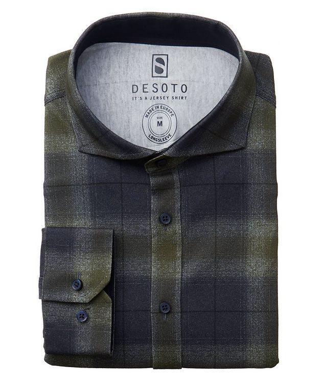 Plaid Cotton-Jersey Shirt picture 1