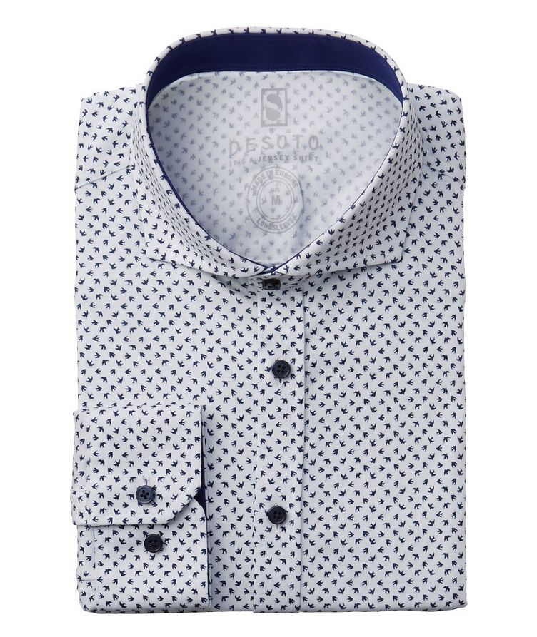 Printed Stretch Cotton Shirt image 0