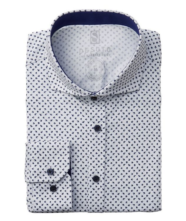 Printed Stretch Cotton Shirt picture 1