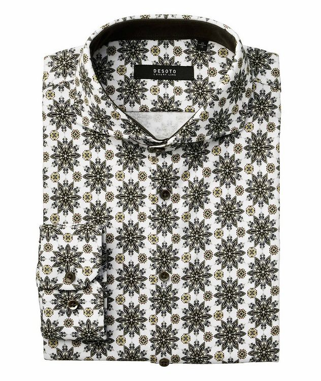 Contemporary-Fit Printed Cotton Shirt picture 1