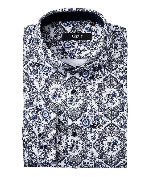 Contemporary-Fit Botanical Paisley Cotton Shirt picture 1
