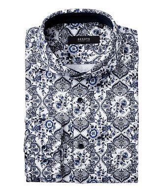 Desoto Contemporary-Fit Botanical Paisley Cotton Shirt