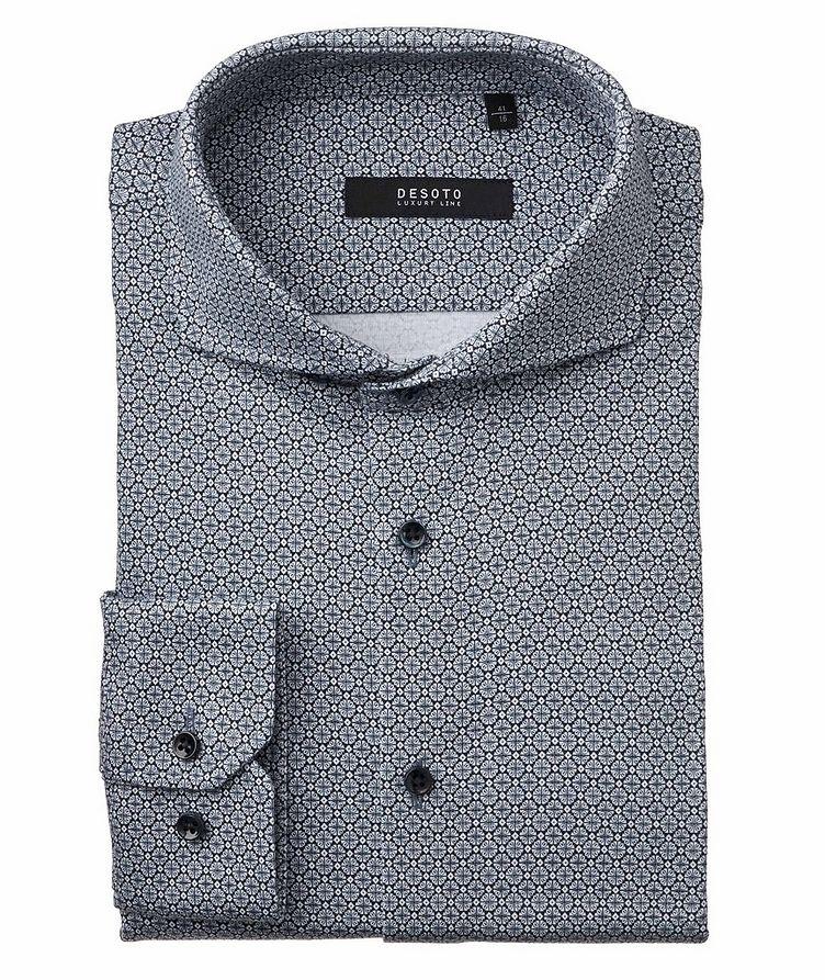 Contemporary-Fit Geometric Cotton Shirt image 0