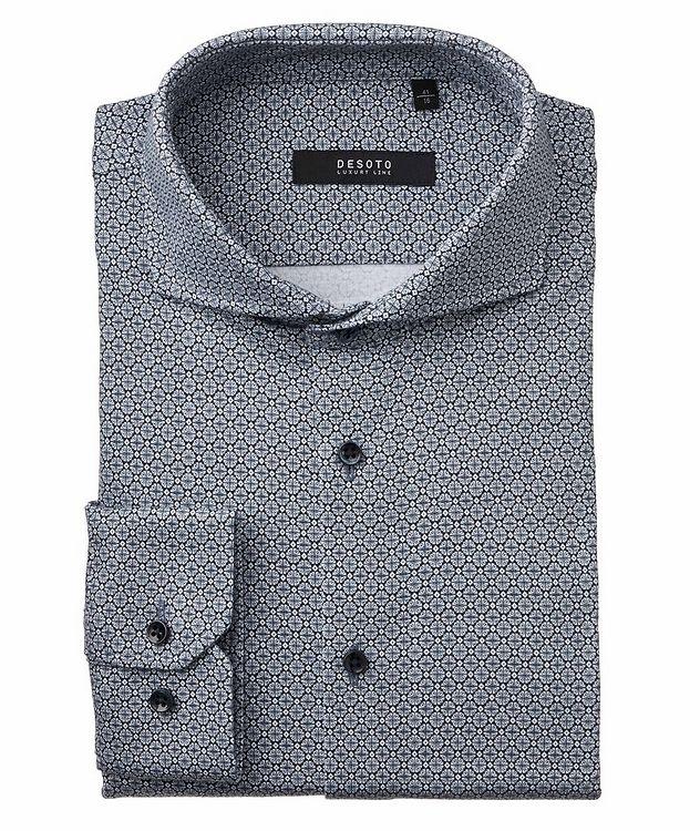 Contemporary-Fit Geometric Cotton Shirt picture 1