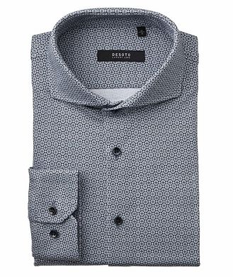 Desoto Contemporary-Fit Geometric Cotton Shirt