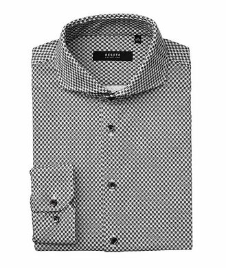 Desoto Hai Diamond-Printed Cotton Shirt