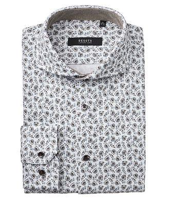 Desoto Contemporary-Fit Botanical Cotton Shirt