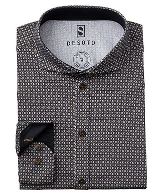Desoto Contemporary-Fit Circle-Printed Cotton-Jersey Shirt