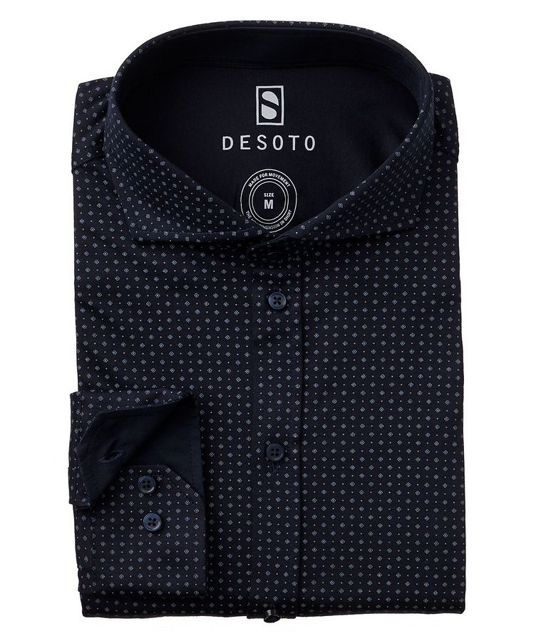 Contemporary-Fit Neat-Printed Cotton-Jersey Shirt image 0