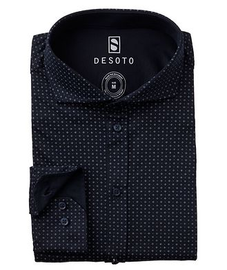 Desoto Contemporary-Fit Neat-Printed Cotton-Jersey Shirt