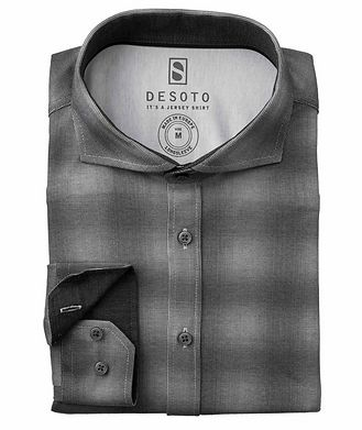Desoto Contemporary-Fit Ombre Check Cotton-Jersey Shirt