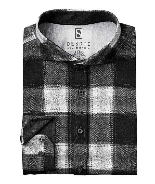 Contemporary-Fit Plaid Cotton-Jersey Shirt picture 1