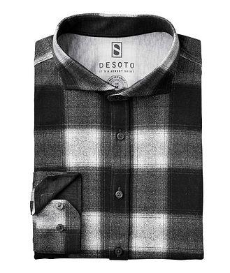 Desoto Contemporary-Fit Plaid Cotton-Jersey Shirt
