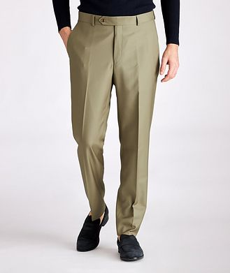 Samuelsohn Contemporary-Fit Wool Dress Pants