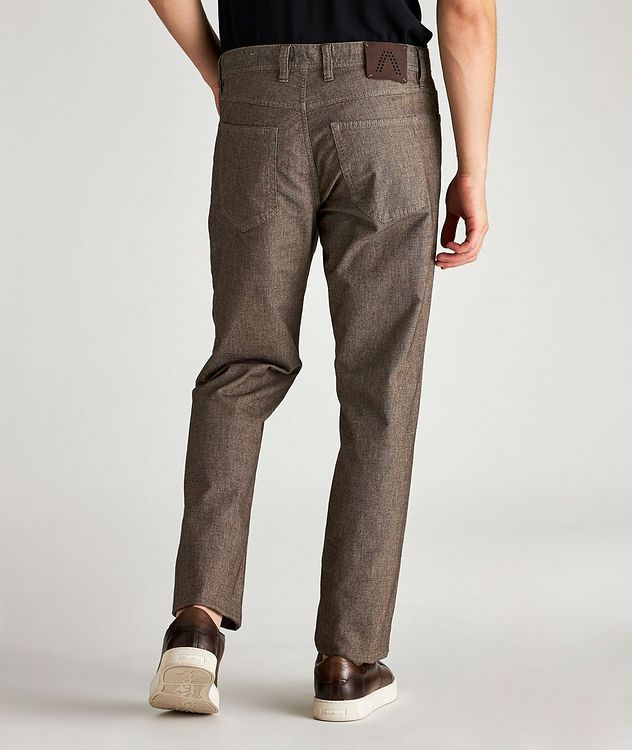 Checked Regular Fit Stretch-Cotton Pants picture 2